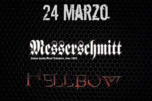 Sabato 24 Marzo 2018 al Fucksia: heavy saturday night con Messerschmitt ed Hellbow