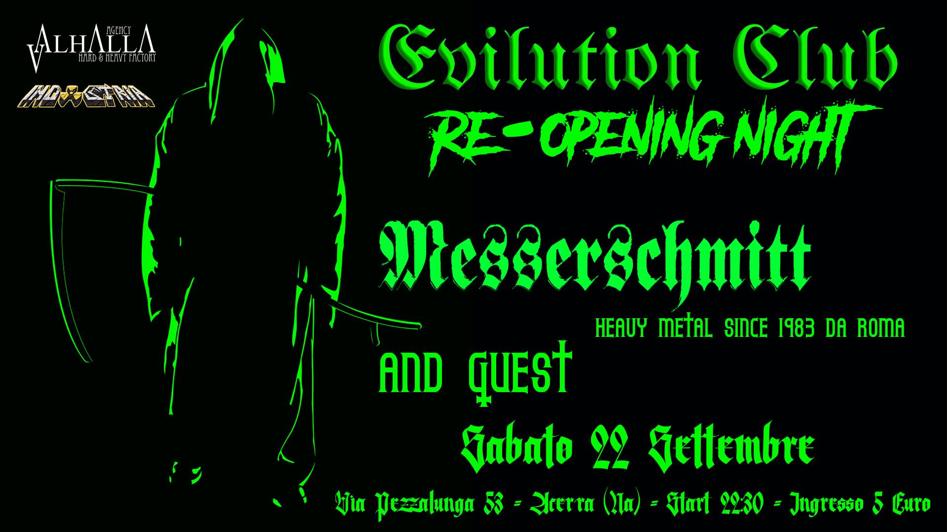 Sabato 22 settembre – Evilution Club Re-Opening Night