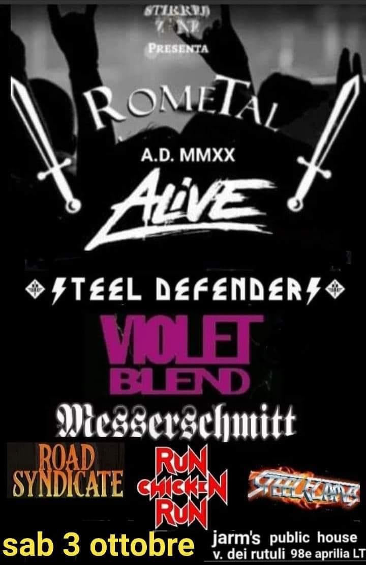 Il 3 ottobre Messerschmitt live @ ROMETAL 2020